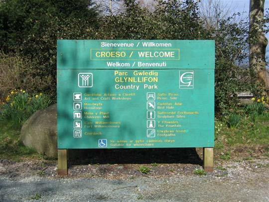 photograph of a country park information board