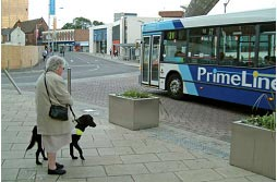 The lack of kerbs affects mainly to visually impaired people. Source: Shared Surface Street Design Research Project (Guide Dogs 2006)